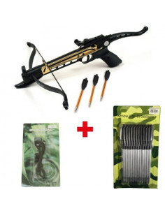 Pack Crossbow Cobra 80 Books gold + string + bolts