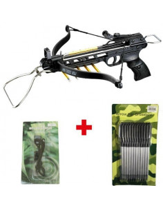 Pack Crossbow 80 lbs All Aluminum + rope + arrows metal