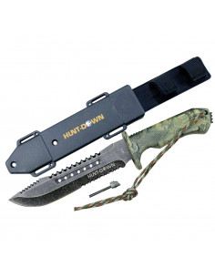 Survival knife 12 inches camouflage V2 with fire