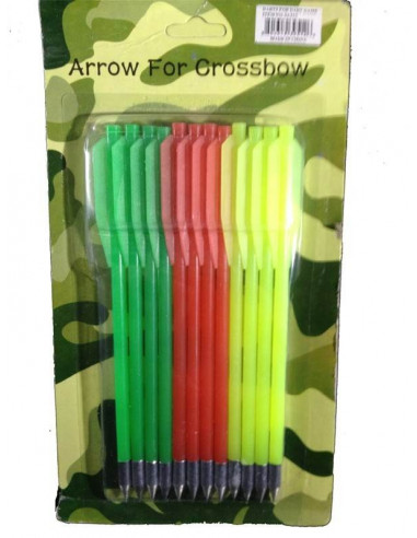 Plastic crossbow arrows 50 and 80 lbs