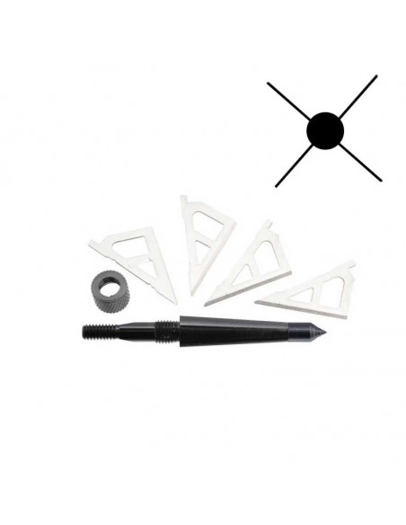 Broadheads 4 Blades for 16 and 20 inch arrows