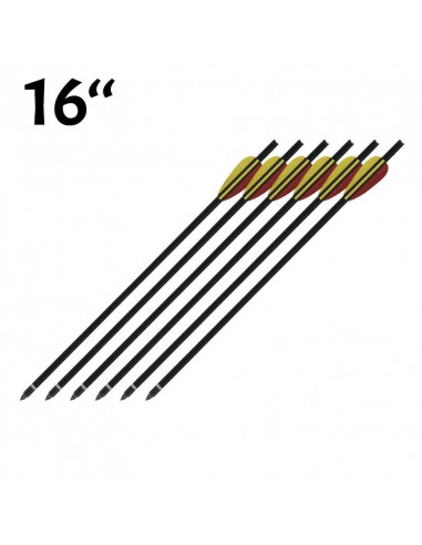 Pack of 6 arrows black 16 inches (40.6cm)