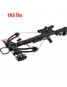 Crossbow Pack 185 Black Pounds 52BK + 4x32 Bezel + Quiver + 4 Arrows