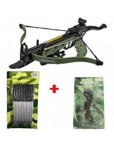 Pack Crossbow 80 lbs Cobra Alligator + rope + arrows metal