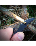 Mini surive knife with firelighter and paracord