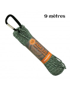 Paracord hank 550 9m green camouflage