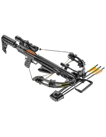 185 lbs Accelerator 370 Black Compound Crossbow