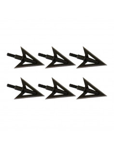 6 Double-bladed hunting broadheads