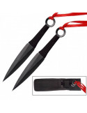 2 Throwing Knife 6 inch Naruto Ninja Kunai