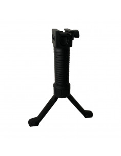 Front handle with integrated bipod adaptable 21 mm rail