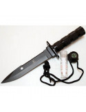 Survival knife 10.5 inches (26.7 cm) with black blade V2