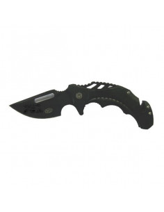 Black folding knife blade...