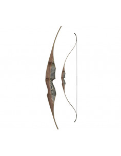 Arc recurve monobloc White Feather Fieldbow Lapwing Black 60 pouces