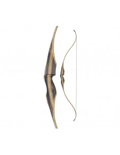 Arc recurve monobloc White Feather Fieldbow Cardinal Clear 60 pouces