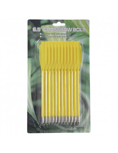 12 Plastic yellow arrows for crossbow...