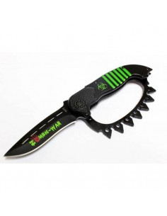 Zombie knife 21.5cm with American fist on the handle