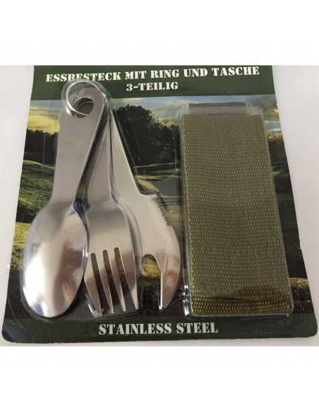 Set of 3 Stainless Steel Cutlery