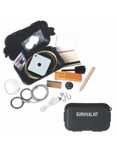 Survival Kit 13 functions (Compass, Fire, Fishing, Sewing, Mirror, Razor)