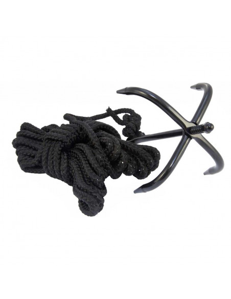 Black Grapple with its 10 meter rope