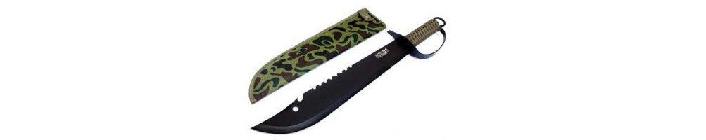 Machete knife and cutter: hunting knife